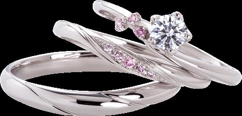 当社ではピンクダイヤモンドでグラデーションのアレンジも可